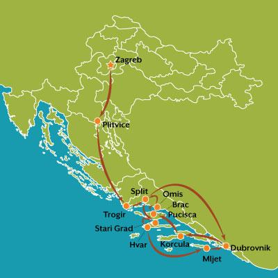 tour carte captivante croatie