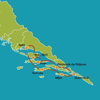 tour carte escapade littorale en croatie