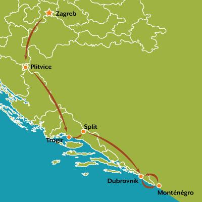 tour carte les merveilles de la croatie