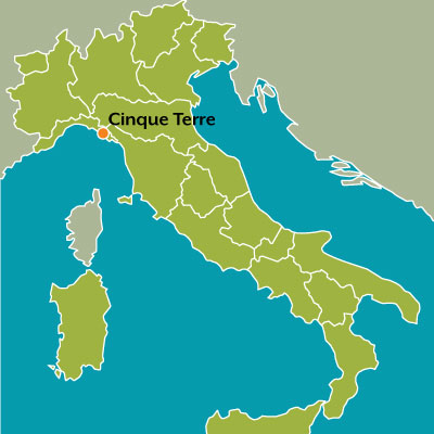 Tour map Cinque Terre Discover