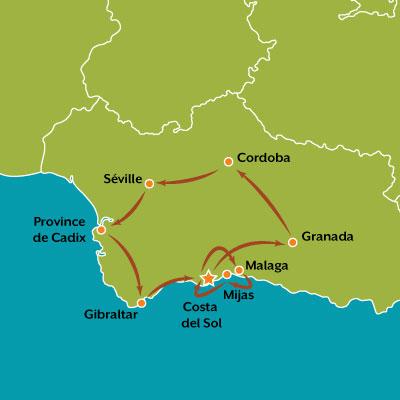 tour carte au coeur de l'andalousie
